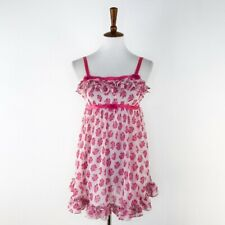 Women's Betsey Johnson Intimates Pink Floral Print Chemise sz S