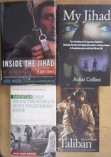 Taliban Mujahideen Pakistan Afghanistan Jihad Al-Qaeda Spy History 4 Book lot