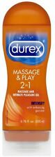 Durex Massage - Play 2 in 1 Lubricant,Intensify with Guarana 6.76 oz