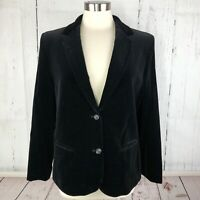 VINTAGE Fashion Place Women Blazer Jacket 12 14 16 Black Velvet Sears Roebuck