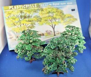 Plasticville - O/S- #1628-100 Shade Trees - COMPLETE  - Excellent Condition
