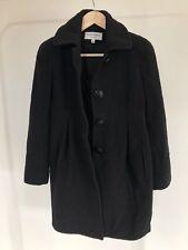 HELENE BERMAN LONDON Princess coat Size Xs 8 Black Felted Wool Blend