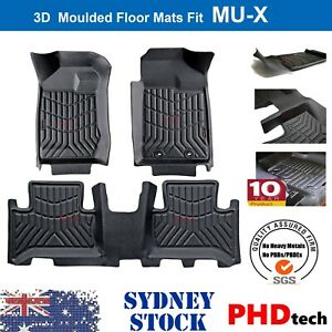 Premium Quality Tailored 3D TPE Floor Mats for Isuzu MUX MU-X 2013-2021