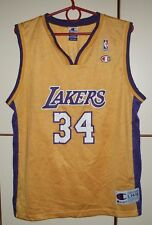 NBA LOS ANGELES LAKERS KIDS L BASKETBALL SHIRT JERSEY CHAMPION O'NEAL #34