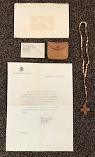 RARE Letter from the Vatican & Rosary Beads Blessed by Pope Paul VI in 1975