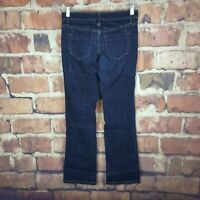 Mossimo Womens Low Rise Boot Cut Jeans Size 2 Stretch 31 Inseam Dark Wash