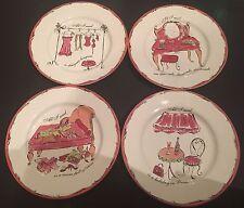 "Rosanna ""Must Have"" Set Of Four Salad Plates, NIB"