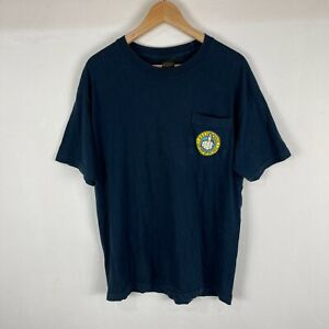 Obey Mens T-Shirt Large Blue Short Sleeve Crew Neck