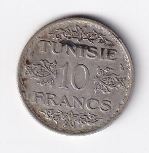 Tunesien 10 Francs AH 1353 Silber  nsw-leipzig