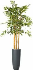 NEW IN BOX! Nearly Natural 4.5' Margarintum Tree with Tall Bamboo Planter 6748
