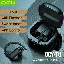 QCY T6 Bluetooth 5.0 Earphones TWS Wireless Sports Stereo Earbuds Earhooks R9A3