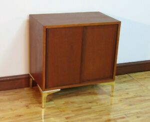 Pair MCM Teak Danish Micro Credenza  Sideboard Night Stands 1960-70s