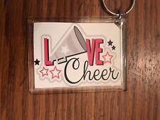 Cheerleading Keychain with Love CHEER