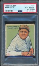 45125831- 1933 Goudey #181 Babe Ruth PSA Authentic RC Altered (bottom edge) GOAT