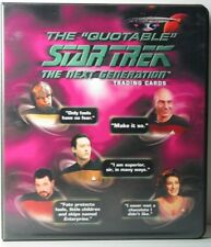 STAR TREK NEXT GENERATION QUOTABLE  BINDER WITH AUTO  & PROMO CARDS