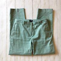 Worth New York Womens Size 8 Seafoam Green Linen Blend Striaght Leg Pants Career