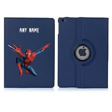 SPIDERMAN Name Personalised iPad 360 Rotating Case Cover Birthday Present