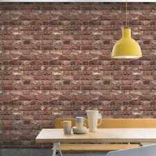 Grandeco Vintage House Brick Red Wallpaper - A28901