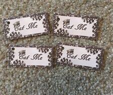 30 Alice in wonderland Eat Me tags  vintage Birthday tea party Decorations