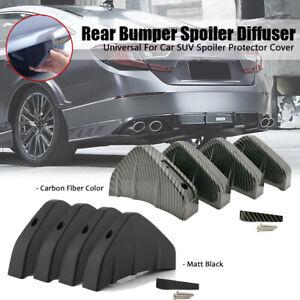 Car Rear Bumper Spoiler Diffuser Shark Fin Protect Cover Anti-crash Accessories