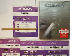 The Mummy (2017) Blu-ray STEELBOOK (no 3D) +4x 4K DIGITAL: MUMMY TRILOGY + 2017