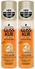 Schwarzkopf Gliss Kur Total Repair Damaged Dry Hair Spray 2 x 200ml / 2 x 6.8oz