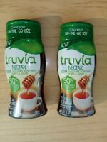 Lot of 2 Bottles Truvia Nectar Stevia Sweetener Blend w/Honey & Sugar 3.52 oz.