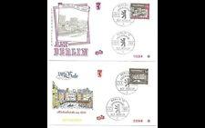 ALT BERLIN 1963 2x ERSTTAGSBRIEF FDC MINR 224 + 225 ERSTAUSGABE GESTEMPELT