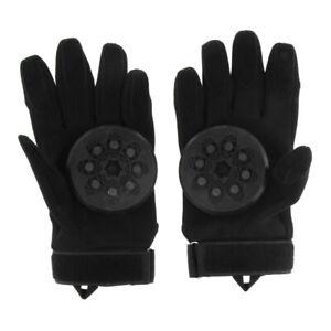 Standard Longboard Skateboard Downhill Slide Gloves Skate Gloves with Pucks