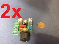 2x -- 220V 2000W Speed Controller SCR Voltage Regulator Dimmer Thermostat HMY c9