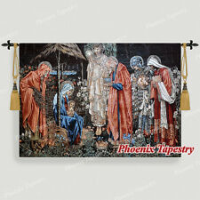 """William Morris Adoration of the Magi Medieval Tapestry Wall Hanging, 55""""x39"""", UK"""