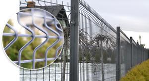 Zaun 123cm Hoch 50 Lfm Anthrazit 3D Zaun inkl Pfosten und Dübelplatten mit Anker