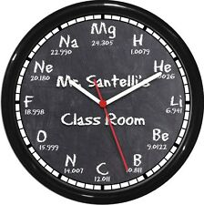 Scientific Periodic Table Personalized Wall Clock Chemistry Teacher Gift