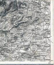 CZ Mašťov Radonice Kadaně Rokle 1902 1921 Teilkarte/Ln Hradiště (Turtsch) (Saar)