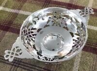 Pierced silver Quaich style silver bowl Sheffield 1912
