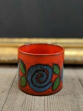 Beautiful Small West German Floral Mid Century Pot