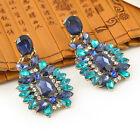 Women Fashion Gold Plated Drop Rhinestone Crystal Dangle Earrings Ear Studs New
