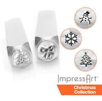 ImpressArt Christmas and Seasonal Metal Stamping, Metal Stamps, 4mm, 6mm Size