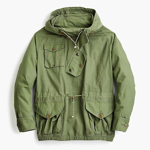 Wallace & Barnes Canoeist Smock Jacket In Ripstop Cotton Green Large NWT!