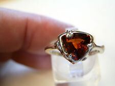 9 ct white gold handmade ring with natural garnet gemstone  1.8 carats