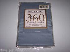 "2 Standard Hillcrest Pillow cases 360TC Cotton Sateen 20"" x 30"" Light Blue Solid"
