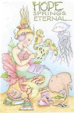 Little Mermaid Hope-Handcrafted Dance Fridge Magnet-Using art by Mary Engelbreit