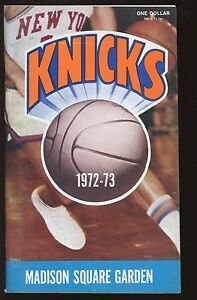 1972-73 NBA Basketball New York Knickerbockers Yearbook NRMT
