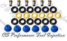 Alfa Romeo V6 Fuel Injector Repair Service Kit Seals Filters Pintle Caps CSKBO16