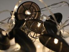 Batería LED Guirnalda industrial con jaula de metal decoración de Hadas Cadena Lámpara Luz