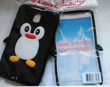 3D Pinguin Tiermotiv Samsung Galaxy Note 3 Silikon Schutzhüllen Cover Hülle