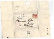 1873 Gutierrez y Del Rio Mexico Cover to Puebla Dr Antonio Lopez 2