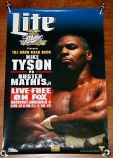 Vintage 1995 Mike Tyson Vs Buster Mathis Jr Heavyweight Boxing Fight Poster
