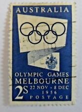 AUSTRALIA -  1954 - MELBOURNE 1956 OLYMPIC GAMES PUBLICITY 2/- BLUE ISSUE
