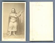 Albert Niemann, German tenor CDV vintage albumen. Albert Niemann (1831-1917);
